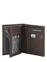 Wallet Leather Arthur et aston Brown jasper 1589-800-vue-porte