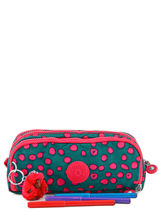 Trousse 3 Compartiments Kipling Vert back to school 13564-vue-porte