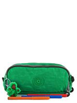 Trousse 3 Compartiments Kipling Vert back to school 13564-vue-porte