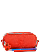 Trousse 3 Compartiments Kipling Orange back to school 13564-vue-porte