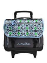 Cartable A Roulettes Cameleon Bleu basic BASCA38R
