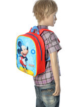 Backpack Mickey Multicolor minnie house 13004-vue-porte
