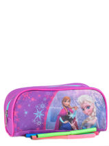 Trousse 1 Compartiment Frozen Violet christal 13414-vue-porte