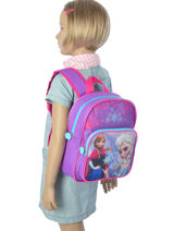 Backpack 1 Compartment Frozen Violet christal 13422-vue-porte