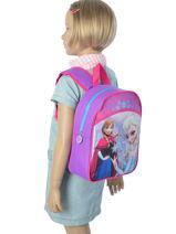 Backpack 1 Compartment Frozen Violet christal 13423-vue-porte