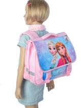 Satchel 2 Compartments Frozen Multicolor anna et elsa 13433-vue-porte