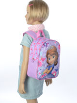 Backpack 1 Compartment Sofia Pink the first 13508-vue-porte