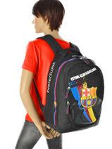 Backpack 2 Compartments Fc barcelone Black 1899 169B204C-vue-porte