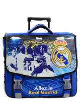 Cartable A Roulettes 2 Compartiments Real madrid Bleu rmcf 163R203R