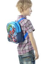Backpack Mini Avengers Black basic AST0964-vue-porte