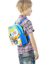 Backpack Mini Mickey Blue basic AST0968-vue-porte
