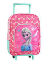 Sac A Dos A Roulettes 1 Compartiment Frozen Pink basic AST1353