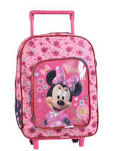 Sac A Dos A Roulettes 1 Compartiment Minnie Rose basic AST1359