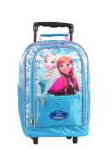 Sac A Dos A Roulettes Reine des neiges Blue pyping 440FAN