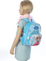 Backpack Reine des neiges Blue pyping 90410FAN-vue-porte