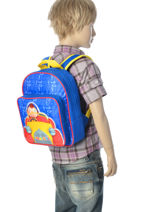 Backpack Oui oui Multicolor car 91910CAR-vue-porte