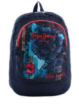 3e9a62877d4 Backpack 1 Compartment Pepe jeans Blue mangrove 64223