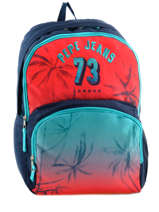 Backpack 2 Compartments Pepe jeans Multicolor dario 64325