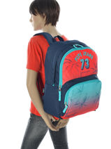 Backpack 2 Compartments Pepe jeans Multicolor dario 64325-vue-porte