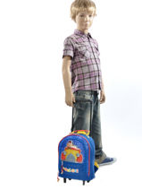 Wheeled Backpack Oui oui Multicolor car 1940CAR-vue-porte