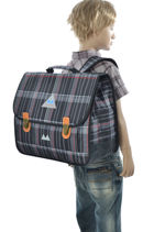 Satchel 2 Compartments Poids plume Gray be all over color PCO1541-vue-porte