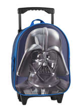 Wheeled Backpack 1 Compartment Star wars Black 3d 570-7356