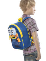 Backpack 1 Compartment Minions Blue 3d 580-6792-vue-porte