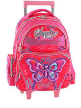 Sac A Dos A Roulettes Miniprix Rose girl 14Q0110T