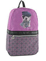 Backpack 1 Compartment Teo jasmin Violet dog story TEL22077