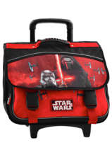 Cartable A Roulettes 2 Compartiments Star wars Black the force awakens STD13028