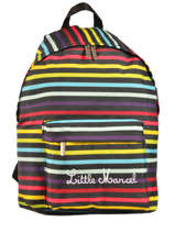 Backpack 1 Compartment Little marcel Multicolor scolaire NIBY