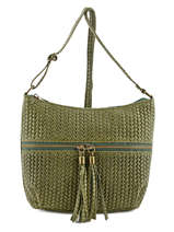 Sac Bandouliere/porte Travers Velvet Stampa Leather Milano Green velvet stampa VS151104
