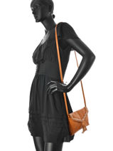 Crossbody Bag Pofo Leather Pieces Brown pofo 17076421-vue-porte