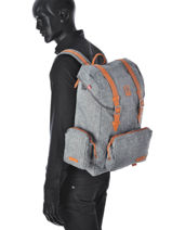 Backpack 1 Compartment Kuts Gray fashion FREE-vue-porte