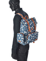 Backpack 1 Compartment Kuts Blue fashion SWELL-vue-porte