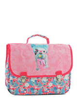 Cartable 1 Compartiment Teo jasmin Rose teo kawai TEN13010