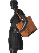 Shoulder Bag A4 Black And White Torrow Brown black and white PE730-3-vue-porte