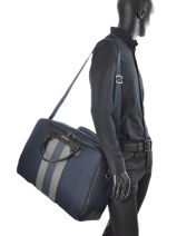 Briefcase Tommy hilfiger Blue stripe story AM01401-vue-porte