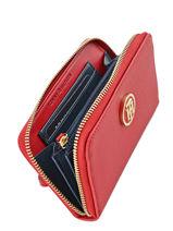 Porte-monnaie Tommy hilfiger Rouge honey AW03356-vue-porte