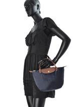 Longchamp Handbag Blue-vue-porte
