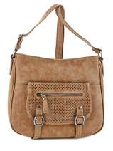 Shoulder Bag People Fuchsia Brown people F9639-2