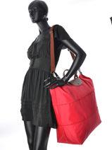 Longchamp Le pliage Sac de voyage Rouge-vue-porte