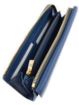 Wallet Leather Furla Blue club CLU-PQ33-vue-porte