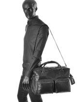 Briefcase Legend Black vegetal DALLAS-vue-porte
