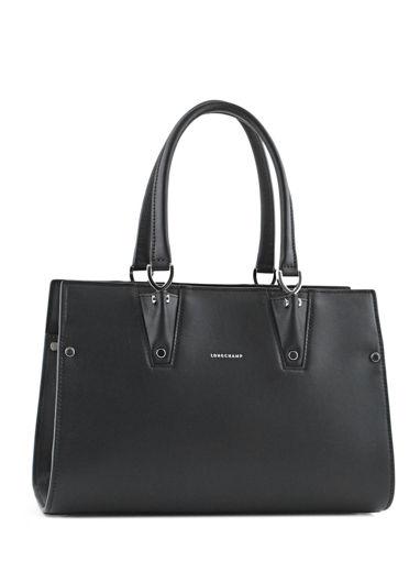 Sacs porté travers Longchamp 2038974 noir blanc en vente au