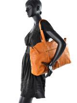 Sac Shopping Depti Cuir Pieces Marron depti 17077713-vue-porte