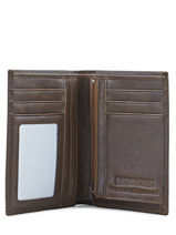 Portefeuille Cuir Redskins Marron wallet CARL-vue-porte