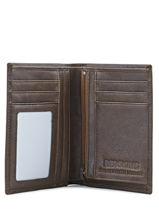 Wallet Leather Redskins Brown wallet CARL-vue-porte