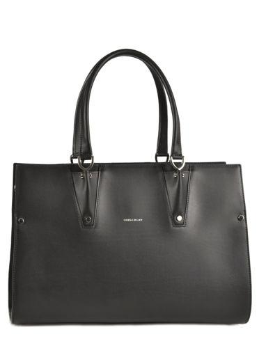 Longchamp Paris Premier Sacs porté main Noir