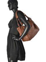 Sac Shopping Heritage Cuir Ikks Marron heritage 95089-vue-porte